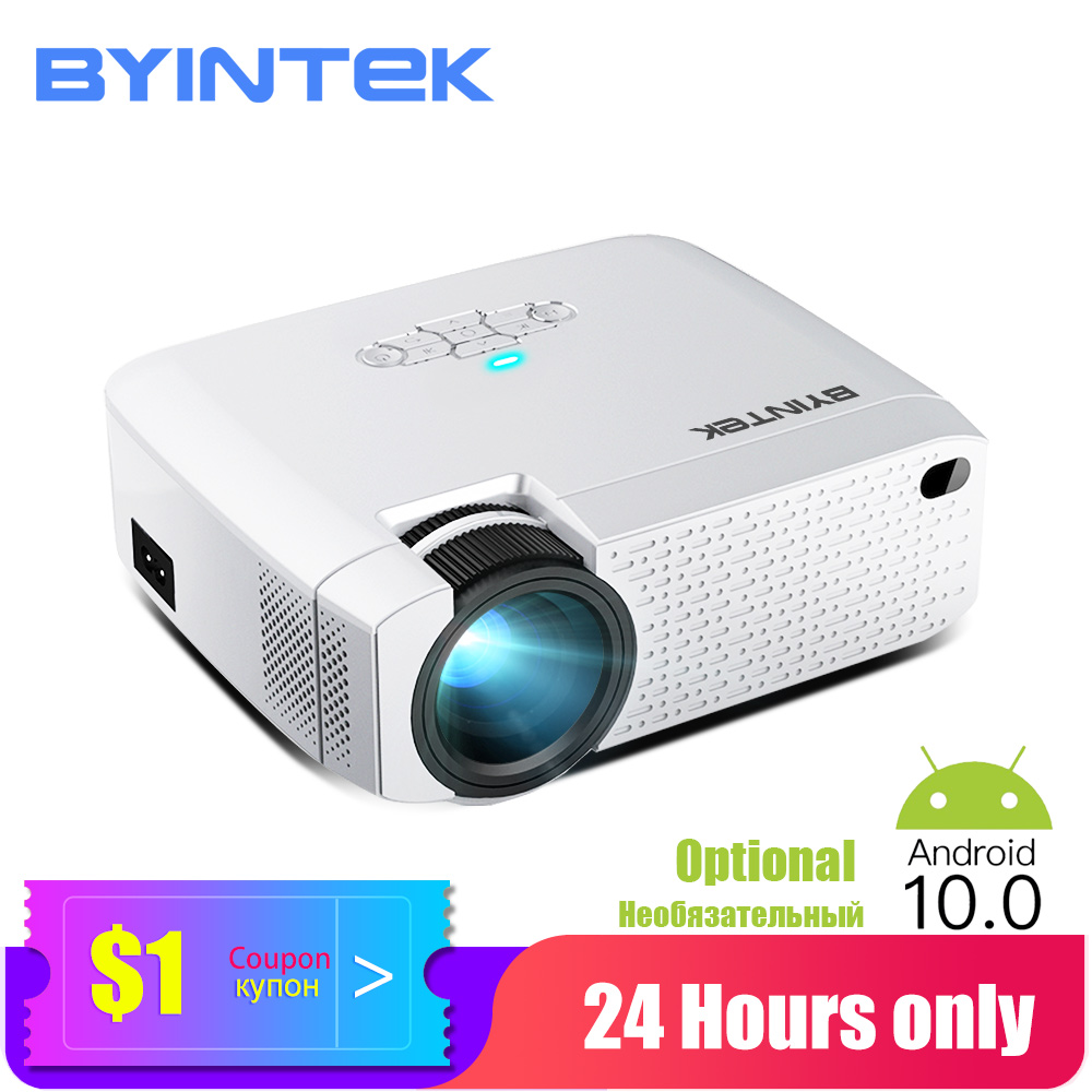 BYINTEK Mini Projector C520 T6,Children Projector;Portable LED Proyector For Cell Phone 1080P 3D 4K (Optional Android 10 TV Box)
