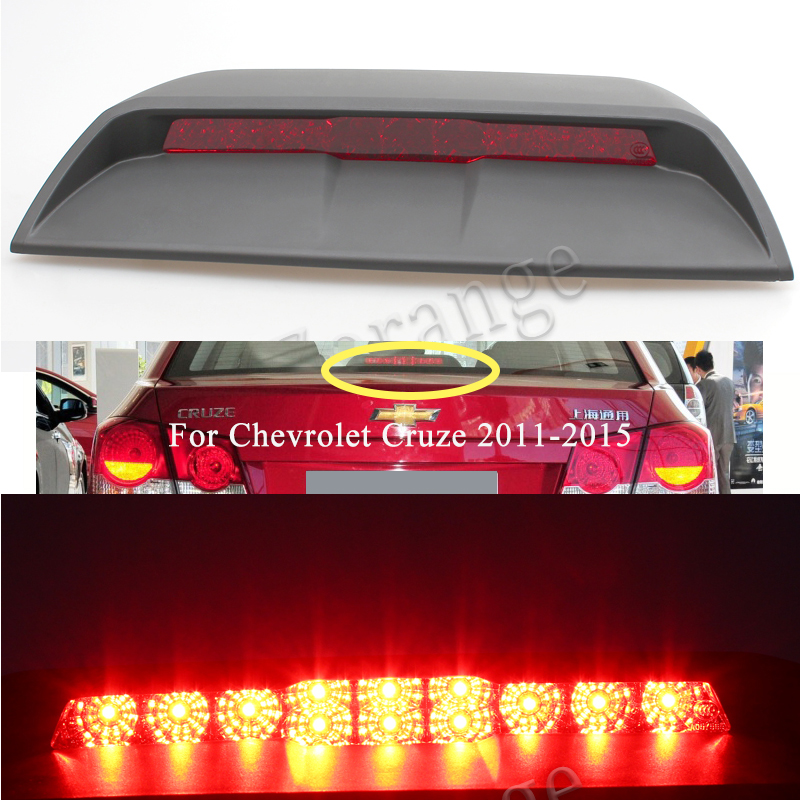 1PCS High Mount Stop Rear Tail For <font><b>Chevrolet</b></font> <font><b>Cruze</b></font> <font><b>2011</b></font>-<font><b>2015</b></font> Stop Light Lamp Auto parts rear glass window brake light Warning image
