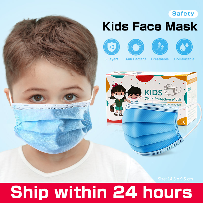 10/20/30/50pcs Disposable Child Masks For Children 3 Layer Small Size Mouth Kids Mask Half Face Mask Support Drop Shipping