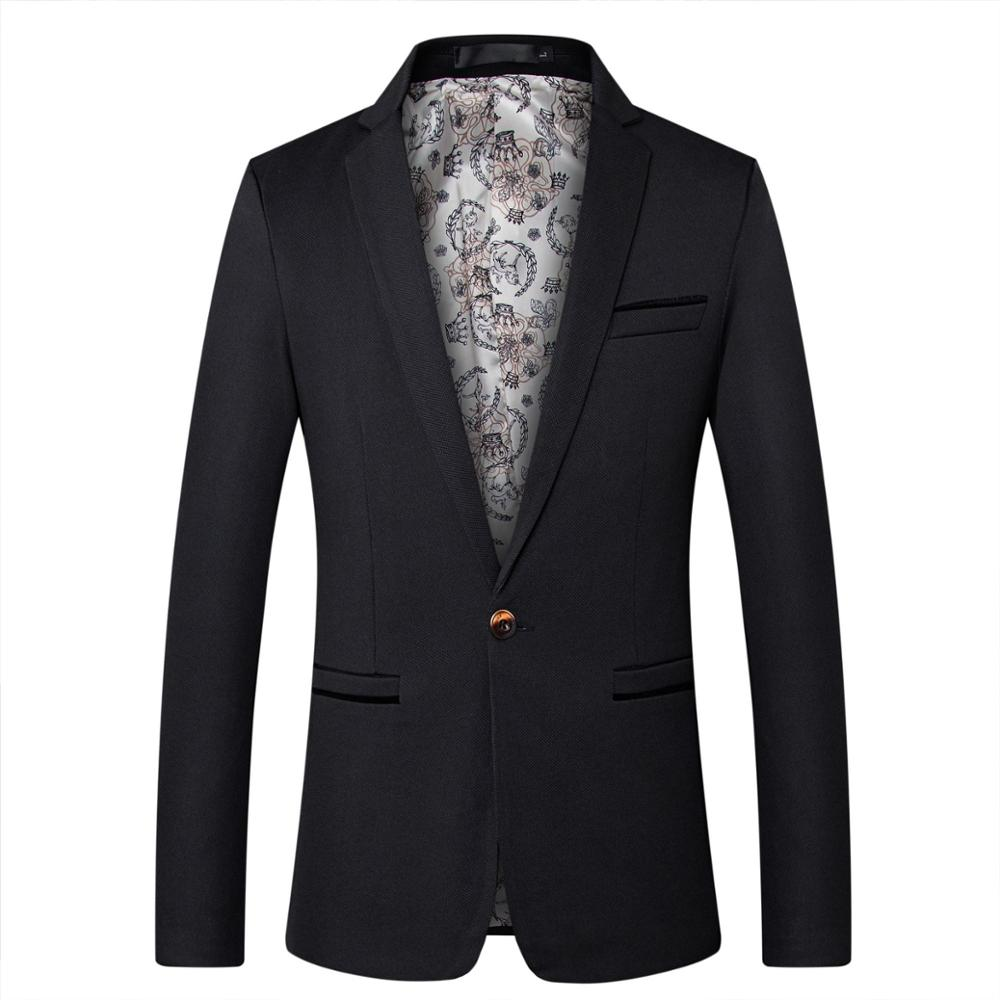 Mens Blazers Spring Autumn Men's Suit Jacket Coat Fashion Casual Suit Business Jacket Wedding Groomsmen Clothes Male Outerwear