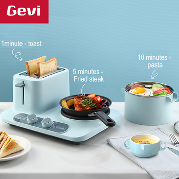 GEVI 3 In 1 Electric Breakfast Machine Multifunction  frying pan mini Cooking pot household bread pizza sandwich frying pan 220V 130usd frying pan multi function household pot student dormitory artifact mini electric cooker noodle baile li 9 9