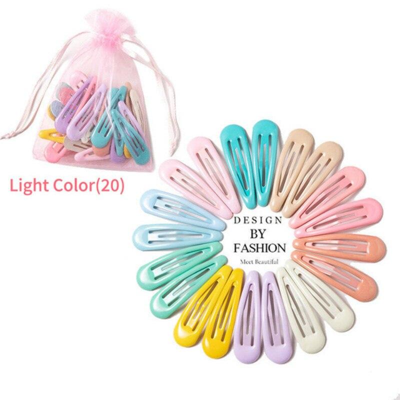Заколки для волос 10-20 шт., цветные металлические зажимы для волос, для малышей, детей, женщин, девочек, аксессуары для укладки