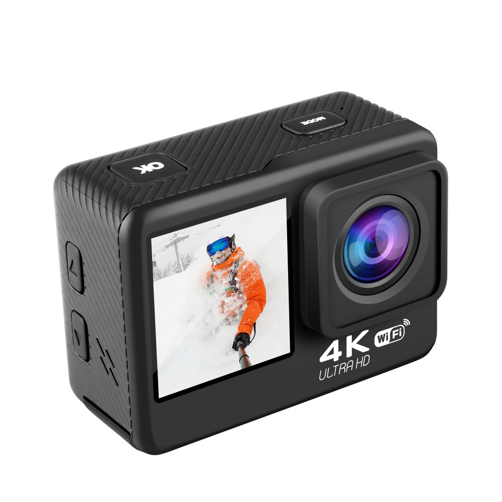 Action Camera 4K 60FPS 24MP 2.0 Touch LCD EIS Dual Screen WiFi Waterproof Remote Control 4X Zoom Helmet Sport Video Recorder