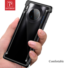 OATSBASF جراب هاتف فاخر بإطار معدني ، جراب وسادة هوائية لهاتف Huawei Mate 30 30 pro 20 20pro