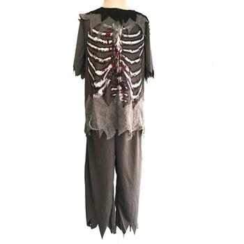 Chłopcy kostium Zombie dzieci duch Halloween kostiumy dziecko straszne krwawiące szkielet Party Cosplay przebranie ubranie tanie i dobre opinie CN (pochodzenie) Majtki HOLIDAY Zestawy Demora YD013 POLIESTER Costumes Child Zombie Costume Kids Zombie Costume Boys Halloween costume