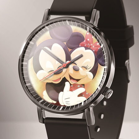 Zegarek Damski New Luxury Brand Mickey Cartoon Quartz Women Watches Reloj Mujer Black Leather Lovely Bear Kids Watches Montres