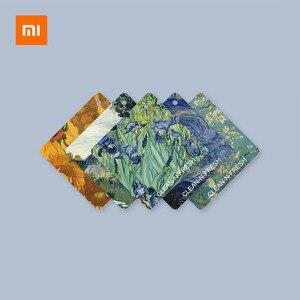 Image 5 - Xiaomi נקי n טרי ואן גוך ציור ארומתרפיה ניחוח טבליות מלתחת מכונית מטהר אוויר קישוט מוצק ריחני חתיכה