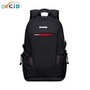 Image 1 - 男性バックパックの学校のバックパック旅行バッグ通学ショルダーバッグ子供のため bagback 黒のラップトップバッグ 15.6
