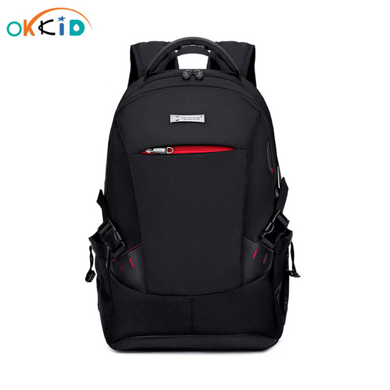 Men Backpack School Bags For Boys School Backpack Men Travel Bags Schoolbag Shoulder Bags For Kids Bagback Black Laptop Bag 15.6