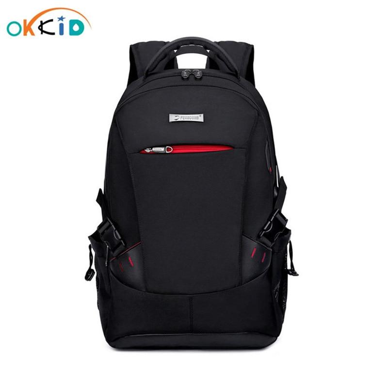 Men Backpack School Bags For Boys School Backpack Men Travel Bags Schoolbag Shoulder Bags For Kids Bagback Black Laptop Bag 15.6