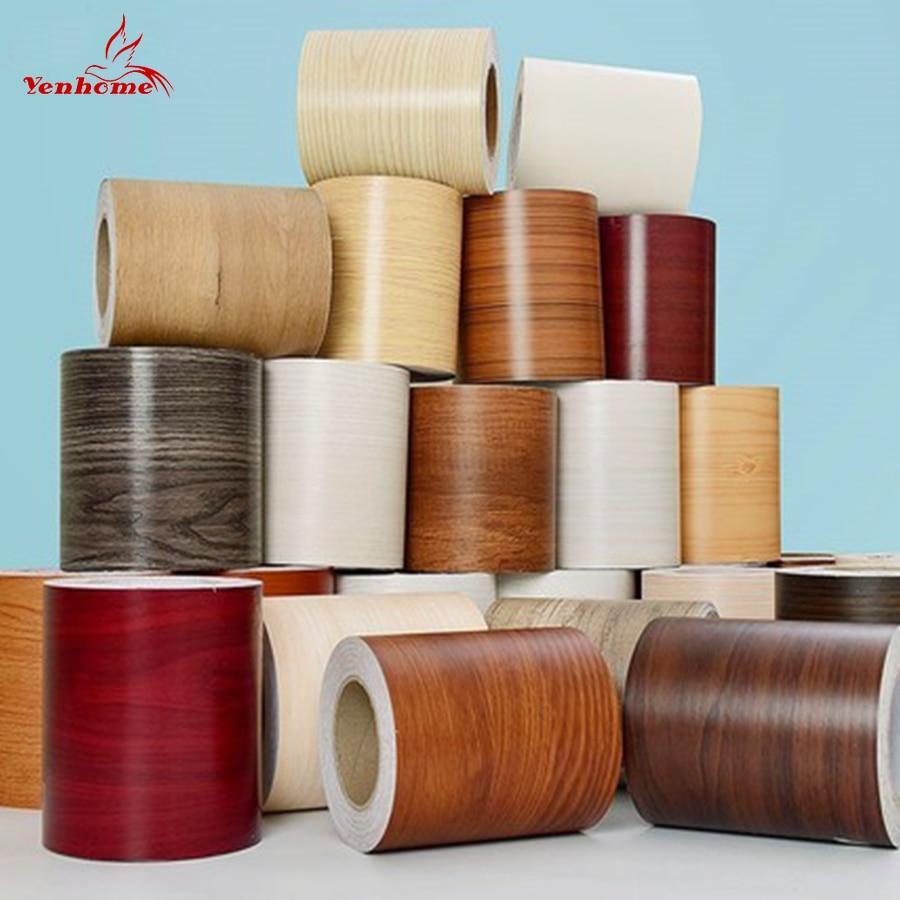DIY Self-adhesive Baseboard Floor Sticker Wood Style Skirting Line Waterproof Vinyl Waist Line Wallpaper Modern Decal Home Decor