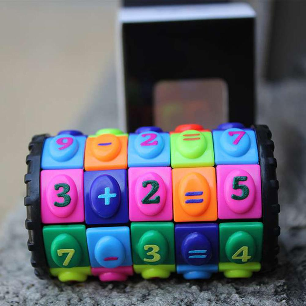 Creative Mathematical Figures Digital Magic Sliding Puzzle Cube Game Kids Early Learning Intelligence Developmental Toys