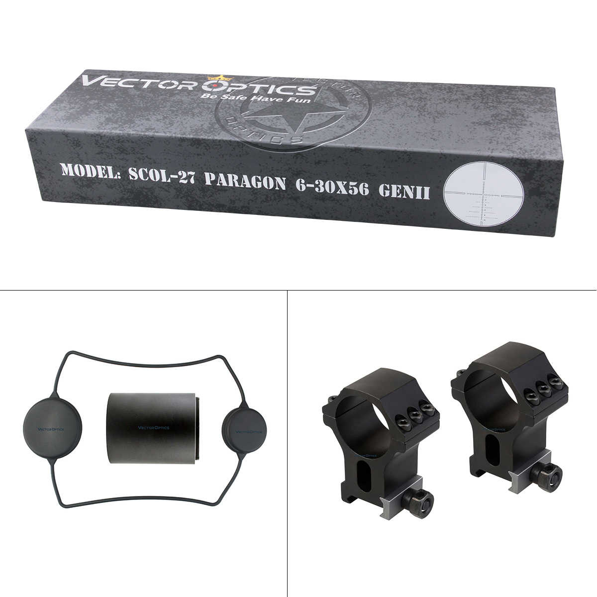 Óptica do vetor paragon 6-30x56 genii caça riflescope alvo tático rifle escopo 90% transmissão de luz min 15yds foco lateral