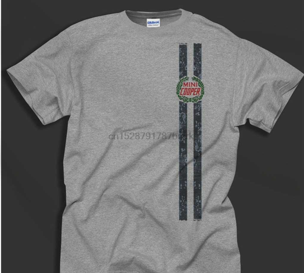 Men T Shirt Mini Cooper Bmc Rally Monte Carlo Cult Classic Car Retro Sportive Grey S Round Neck Casual Tops Ideal Gift 014905