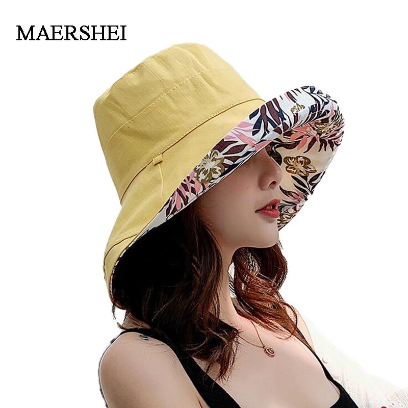 2020 Anti-UV Wide Brim Cotton Linen Sun Hat For Women Vacation Summer Panama Beach Visor Cap