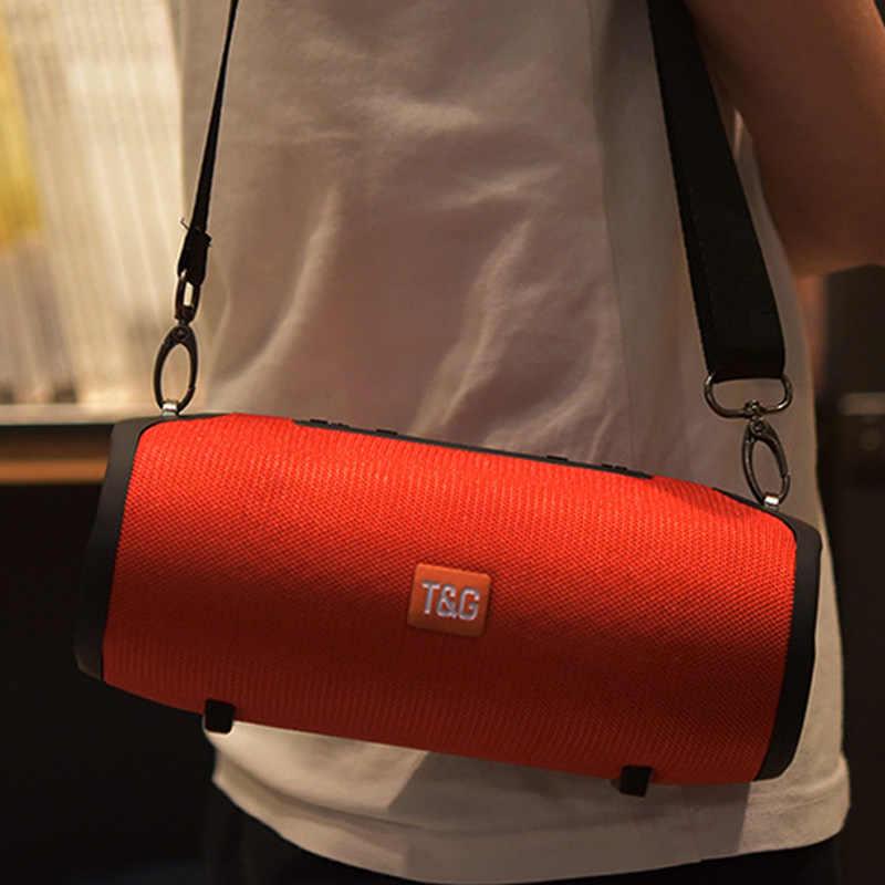 Nirkabel Yang Kuat Bluetooth Speaker Portable Bass Kolom Tahan Air Luar Ruangan Speaker Mendukung AUX Tf Usb Subwoofer Stereo BOOMBOX