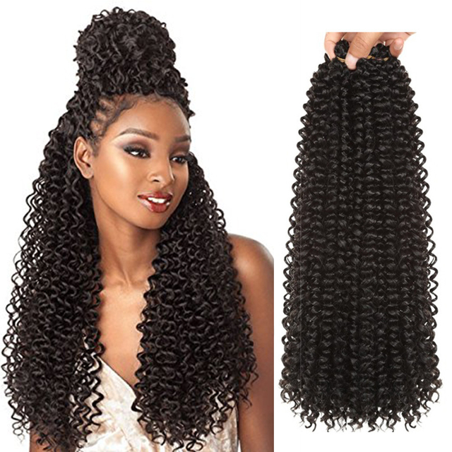 18-22Inch Long Passion Twist Crochet Hair Extensions 16Roots/Pack Ombre Synthetic Braiding Bohemia Crochet Braids Alibaby