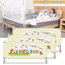 Children's Bed Barrier Fence Safety Guardrail Security Foldable Baby Home Playpen On Bed Fencing Gate Crib Adjustable Playpens
