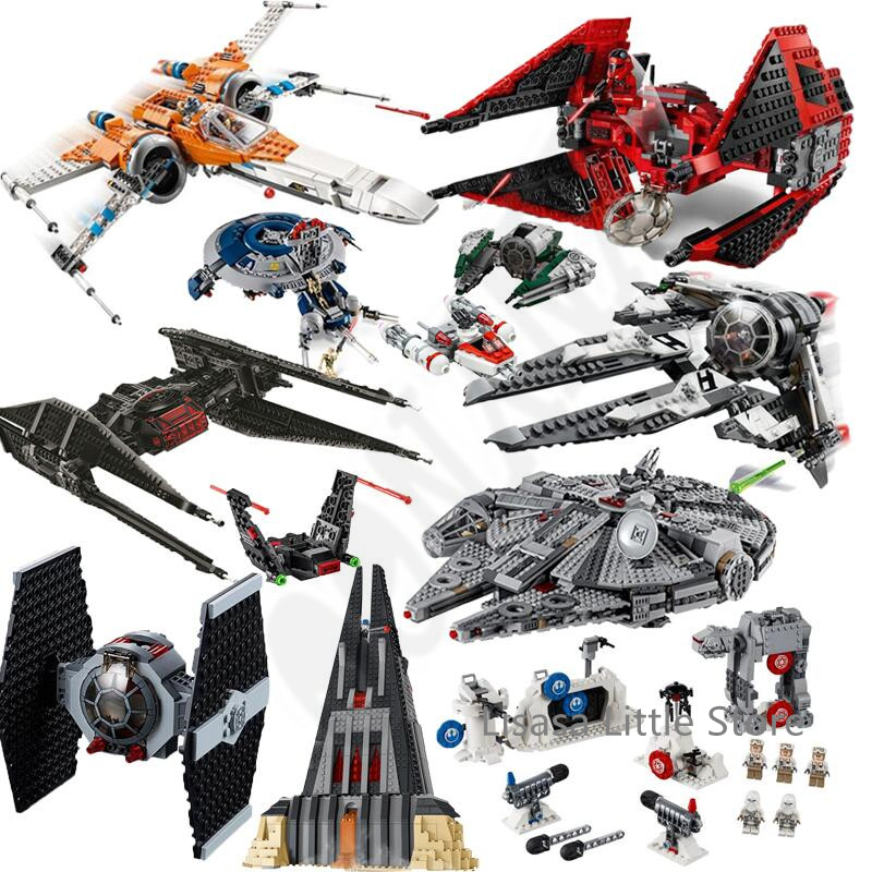 New Star Red Tie Fighter MicroFighters Wars The Rise Of Skywalker Building Blocks StarWars 75240 Toys