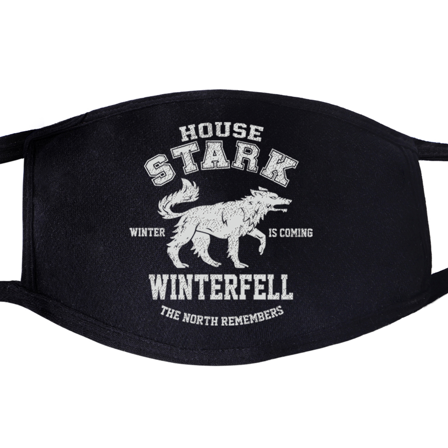 Face Masks Game Of Thrones Not Today Arya Stark Winter Is Comming Daenerys Targaryen Wolf Dragon Mask