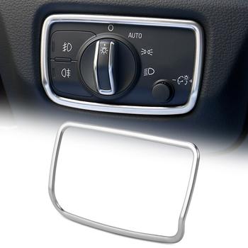 Stylizacja przedniego reflektora przełącznik guziki ozdobne listwa wykończeniowa wnętrze naklejki na Audi A3 8V ze stali nierdzewnej akcesoria samochodowe tanie i dobre opinie For Audi A3 8V 2013-2017 Year Logotyp pojazdu AndyGo STAINLESS STEEL 0inch Inne naklejki 3d Bez opakowania Words Wewnętrzny
