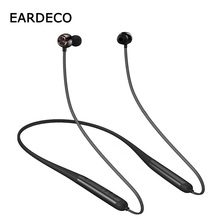 EARDECO IPX7 Waterproof Bluetooth Earphone Neckband Stereo Wireless Bluetooth Headset Mic Earphones Headphones Noise Cancelling tronsmart encore s2 plus bluetooth earphones ipx45 headphones waterproof earphones wireless bluetooth headset with neckband