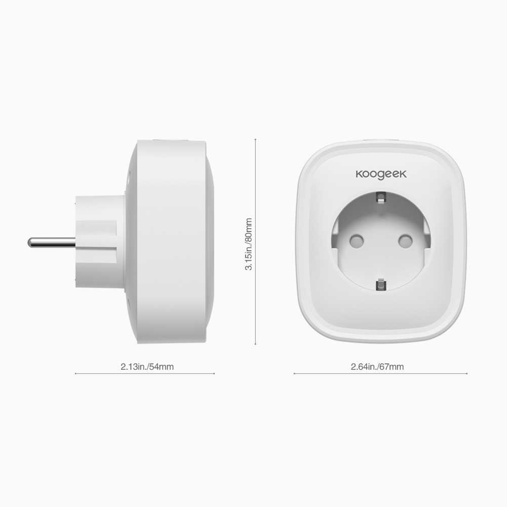 Koogeek واي فاي تمكين 2 في 1 الذكية التوصيل متوافق أفضل USB شاحن جدار مزود بمنفذ محول لا محور المطلوبة AC220V بنفايات المدرجة الاتحاد الأوروبي التوصيل