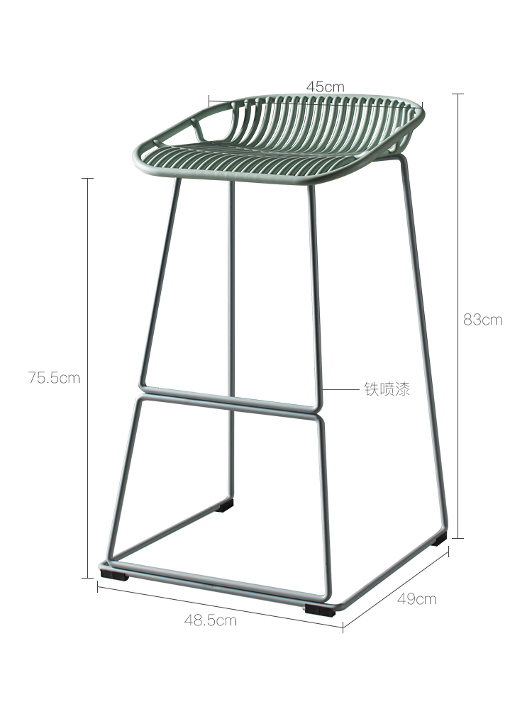 H1 Nordic Iron Art Bar Chair Modern Simple Bar Chair Bar Chair Stand Bar Stand Outdoor Household Bar Chair Bar Stool Cheap