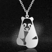 Vnistar Unique Necklaces Amazing Quality 100% Stainless Steel Animal Panda Necklace for Women Fashion Jewelry Special Gift(China)