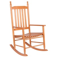 Wooden Balcony Deck Garden Porch Armchair Rocking Chair HW56354