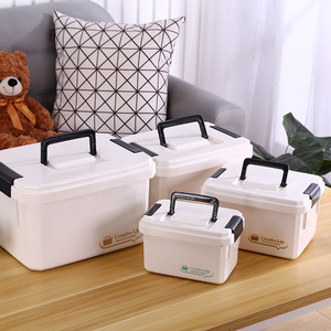 Multifunctonal Storage Box First Aid Kit Organizer with Handle Portable Kits PP Plastic Drug for Household