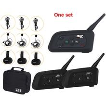 3 דרך כדורגל שופט אינטרקום אוזניות Vnetphone V4C V6C 1200M מלא דופלקס Bluetooth MP3 אוזניות אלחוטי כדורגל האינטרפון