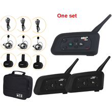 3 Way Arbitro di Calcio Citofono Auricolare Vnetphone V4C V6C 1200M Full Duplex Bluetooth MP3 Cuffia Senza Fili Calcio Interphone