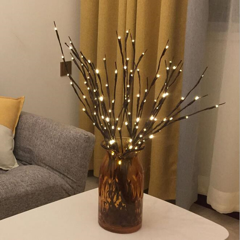 LED Willow Branch Lamp Twig Lights RGB 20 Leds Branches String Light Battery Powered Home Party Cafe Shop Decor Lamp Luminous