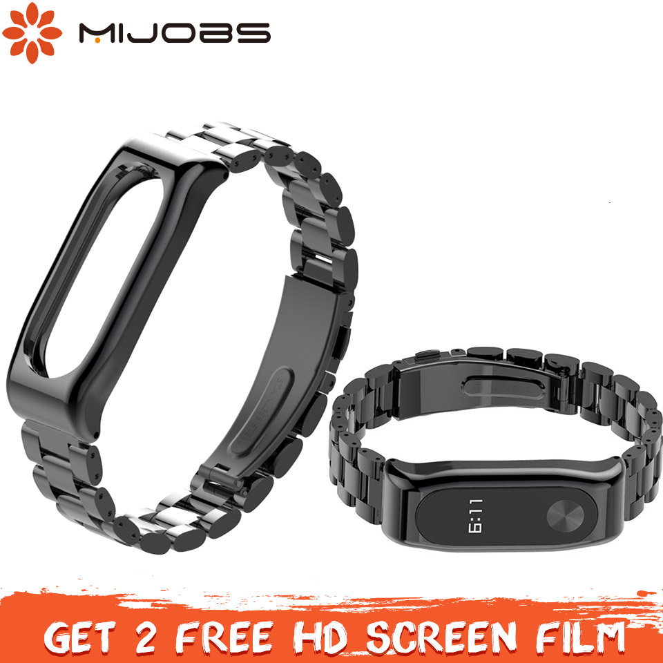 Bracelet Smart-Watchband Metal Steel-Strap Stainless Xiaomi for 2 2-Pulseira