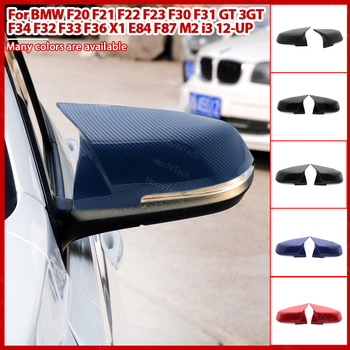 2pcs Excellent facelifted Side Wing modified Carbon Fiber Pattern Mirror Cover caps For BMW F32 F33 F36 X1 E84 F87 M2 i3 image