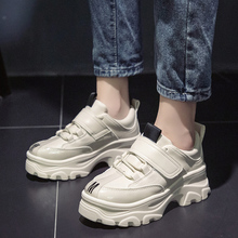 Autumn New Women Chunky Sneakers 2019 Thick Sole Platform White  Fashion Casual Shoes Dad