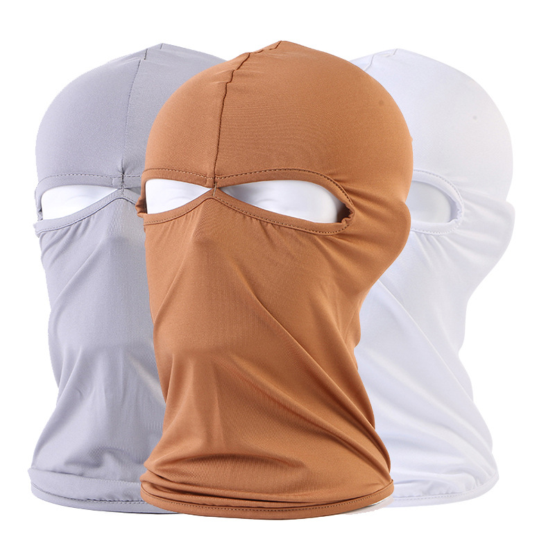 1pc Solid All Season Warm Balaclava Face Mouth Mask Man Women Unisex Outdoor Cycling Spring Mask Black Mask Mouth Head Cover