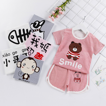 цена на New Summer Toddler Baby Boy Clothing Set Cute T Shirt Shorts 2PC Cute Casual Cartoon Children Boys Clothes Suit for Kids Outfit
