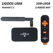UGOOS UM4 Android 7.1 TV Box 2GB DDR4 16GB ROM RK3328 Quad C
