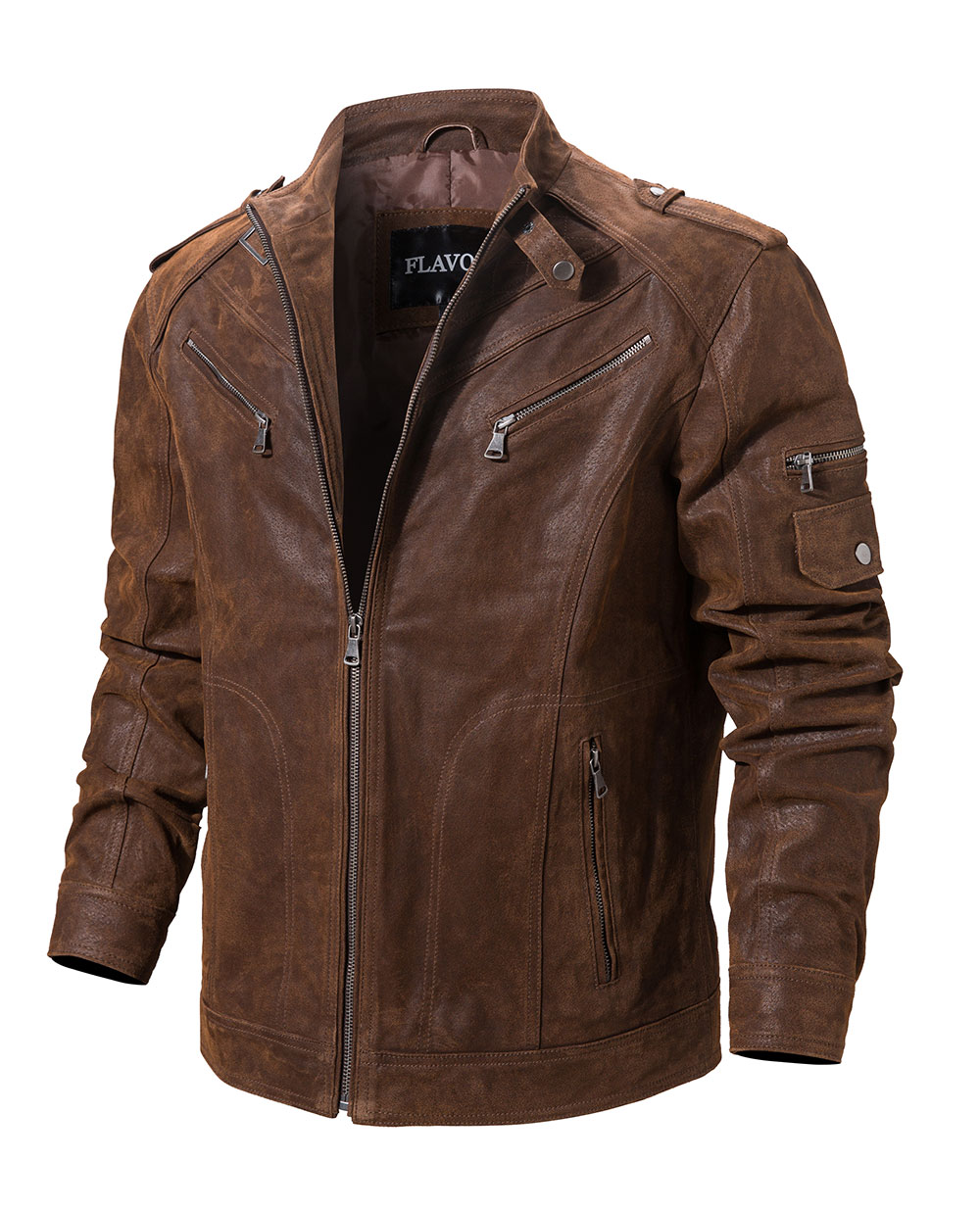 H8c1755bf548745bfbb6feae429e59a98a Men's Pigskin Real Leather Jacket Genuine Leather Jackets Motorcycle Jacket Coat Men