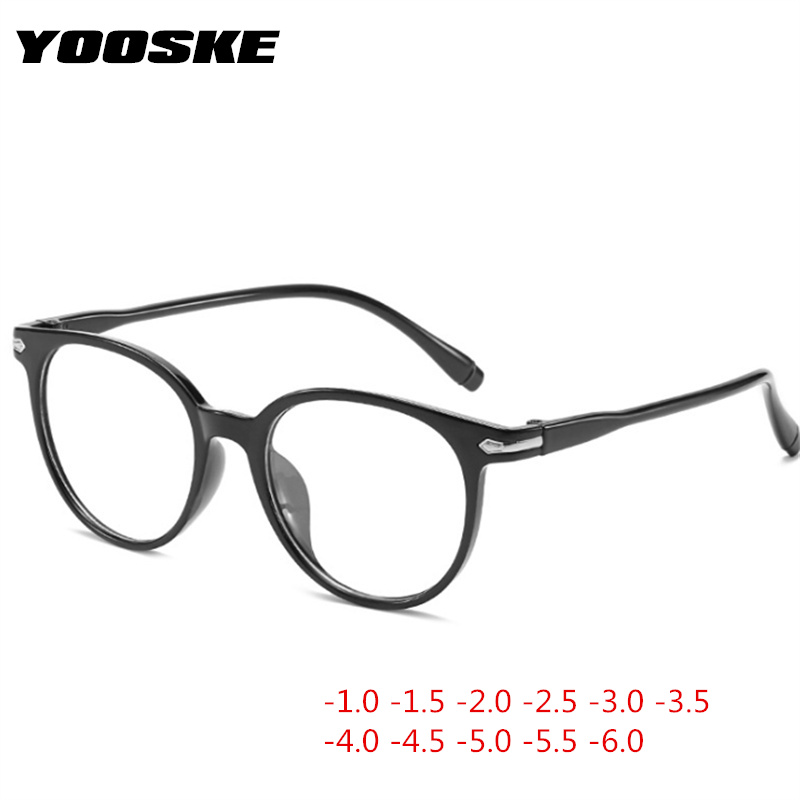 YOOSKE -1 -1.5 -2 -2.5 -3 -3.5 -4 To -6.0 Student Myopia Glasses Women Men Finished Spectacle Glasses Unisex Short-sight Eyewear