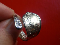 American Constellation Classic Jewelry 925 Sterling Silver Capricorn Angel Silver Spoon Live Small Version Ring Free Shipping