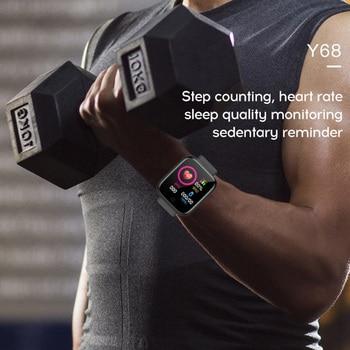 D20 Bluetooth-compatible Watches Men Waterproof Sport Fitness Tracker Smart Bracelet Blood Pressure Heart Rate Monitor Y68 3