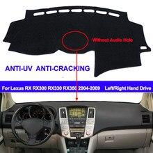 Чехол для приборной панели автомобиля Lexus RX RX300 RX330 RX350 2004 - 2008 2009 без аудио отверстия, коврик для приборной панели, ковер, накидка, солнцезащит...