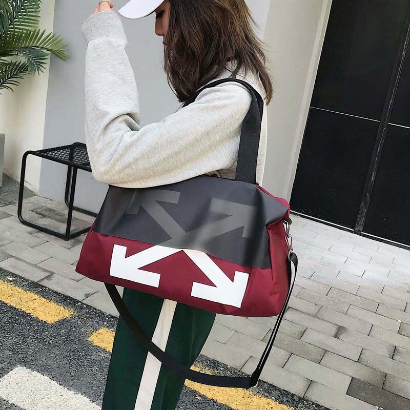 Oxford Cloth Travel Bag Large Capacity Women's Shoulder Bag Diagonal Handbag Men Travel Duffle Bag Multifunctional Weekend Bags