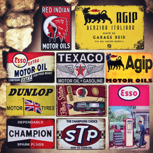Motor Oil Shabby Chic Plaque Metal Tin Signs Garage Pub Decorative Plates Types Painting Gasoline Wall Art Stickers MN97