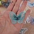 Lucia Handwerk 10/12 stücke Spitze Schmetterling Multi-Farbe Tuch Stickerei Patch Nähen Auf Polyester DIY Patch L0919