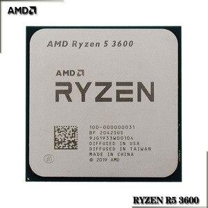 Image 2 - AMD Ryzen 5 3600 R5 3600 3.6 GHz שש ליבות עשר חוט מעבד מעבד 7NM 65W L3 = 32M 100 000000031 שקע AM4
