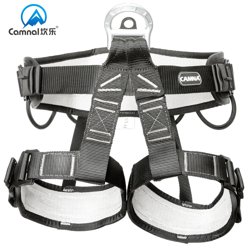 Kan Le/camna Profession Rescue Climbing Caving Outdoor Aerial Homework Half-length Safety Belt Semi-Preserving